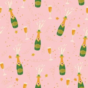Champagne Bottles Pink
