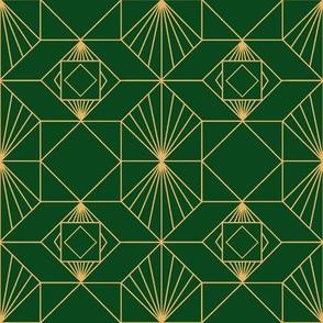 Vintage Deco Green