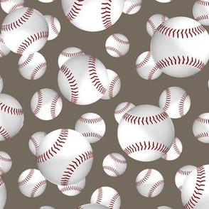 baseballs sports pattern on stone