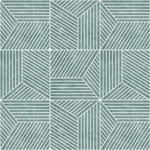 bohemian tiles - geometric tile - dusty blue - LAD20