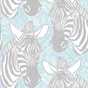 zebras - grey + lilac