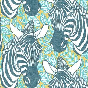 zebras - ocean + mustard
