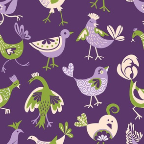 cheeky chickens | purple