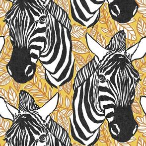 zebras - black + mustard