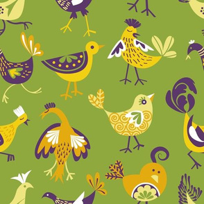 cheeky chickens | green