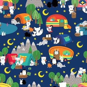 Small - Arctic Animals Vacation Night Camping