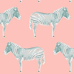 Zebra Chic | pink + caribbean