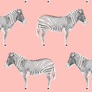 Zebra Chic - pink + black