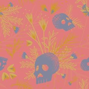 Botanical Skulls Neon