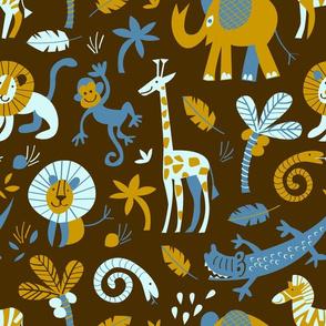 safari animals | brown