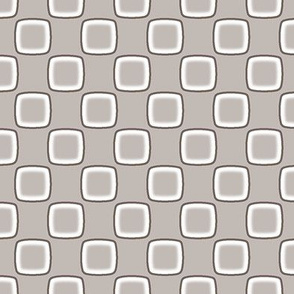 White Square on Taupe