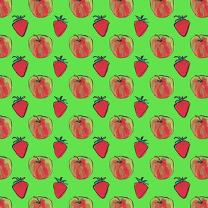 Apples and strawberries green