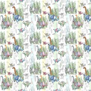 Line Art Safari Pastel Stripes Small