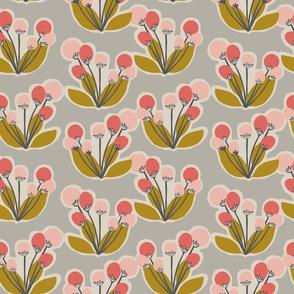 Contemporary Blossom 3 - Grey