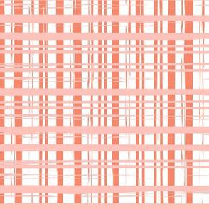 Bliss Plaid | pink + orange
