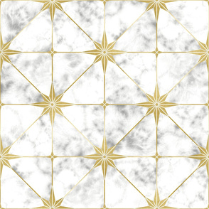 White marble and gold star