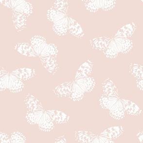 Butterfly | blush + white