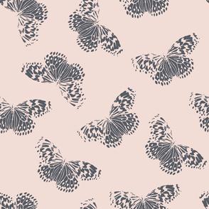 Butterfly | blush + navy