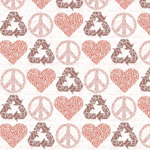 Peace. Love. Recycle. | Coral