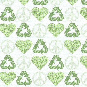 Peace. Love. Recycle. | Green - light