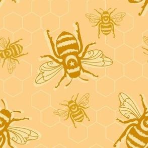 Honey Bees - orange sherbet