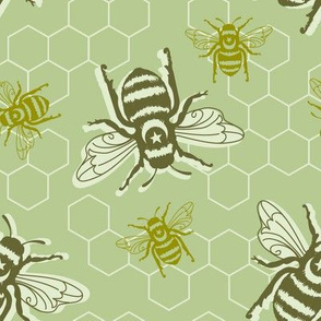 Honey Bees - green