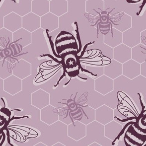 Honey Bees - purple