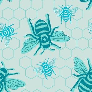 Honey Bees - blue