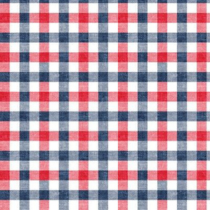 (small scale) red white and blue plaid - check - LAD20BS