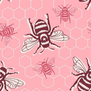 Honey Bees - pink