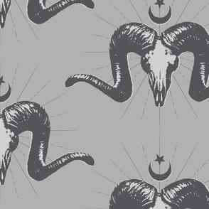 Merino Skulls - grayscale