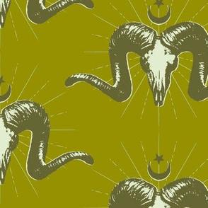 Merino Skulls - green