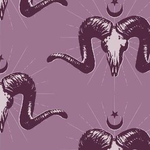 Merino Skulls - purple
