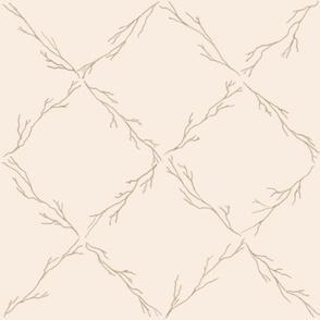 Branch lattice on off white