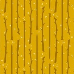 Yarn Wands Knitting - mustard