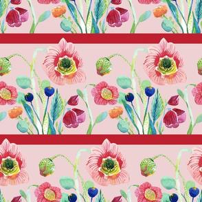 Wildflower Stripe Pink