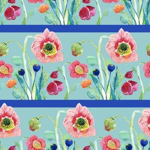Wildflower Stripe Blue