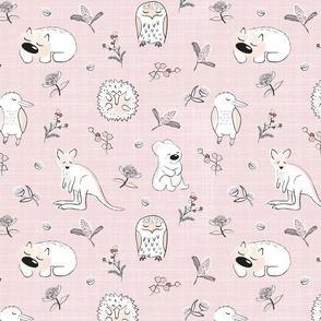 Australian Animals Pink