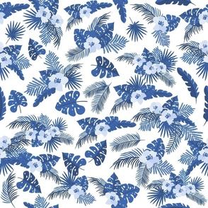 Tropical Plants Blue