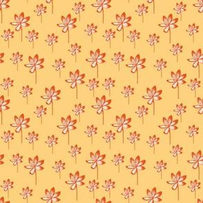 Tropical Stems - Sunshine Yellow