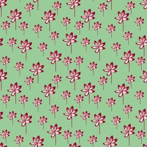 Tropical Stems - Mint Green