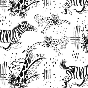 Safari Line Art