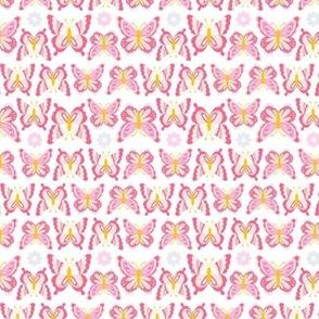 Happy Spring Butterflies - Baby Pink
