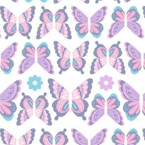 Happy Spring Butterflies - Pastel Purple