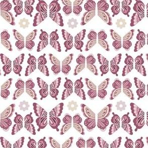 Happy Spring Butterflies - Plum