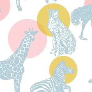 Safari - Pink, Mustard, Blue