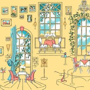 Paris Pastel Cafe | Sunny Yellow