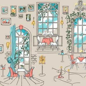 Paris Pastel Cafe | Cream