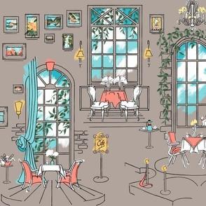 Paris Pastel Cafe | Warm Gray