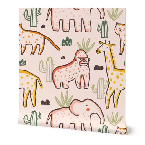 Cute and funny safari animals